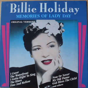 Billie Holiday ‎– Memories Of Lady Day